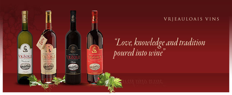 Welcome to Winery VINIK where love, knowledge and tradition are poured into wine!